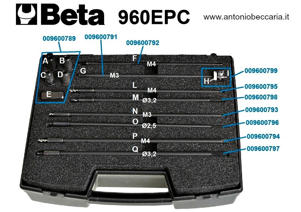 009600790 960EPC Ricambi per set di utensili per l'estrazione dell'elettrodo delle candelette di preriscaldamento nella parte terminale