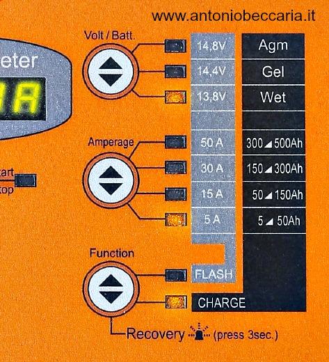 014980050 1498-50A Caricabatterie elettronico 12V multifunzione 2