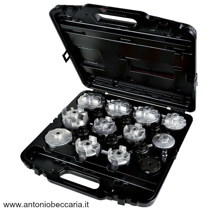 1493C19 014930019 1493 C19 Beta Serie di 18 chiavi a bussola per filtri olio particolarmente indicate per auto asiatiche