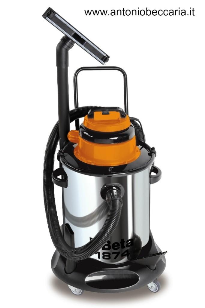 1874 018740050 1874 Beta Aspiratore 50 litri per solidi e liquidi bidone in acciaio INOX