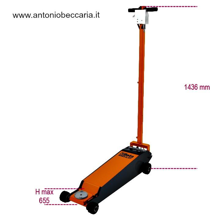 30632,5T 030630025 30632,5T Beta Sollevatore oleopneumatico a carrello da 2,5 t