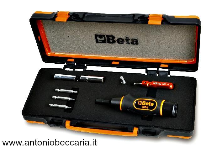 971C8 009710108 Beta Giravite dinamometrico con accessori per il serraggio controllato delle valvole dei pneumatici con sistema di controllo della pressione