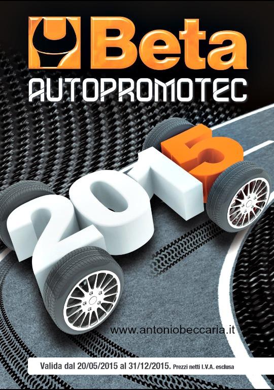 Copertina Beta Autopromotec 2015 Beccaria Antonio Rappresentanze